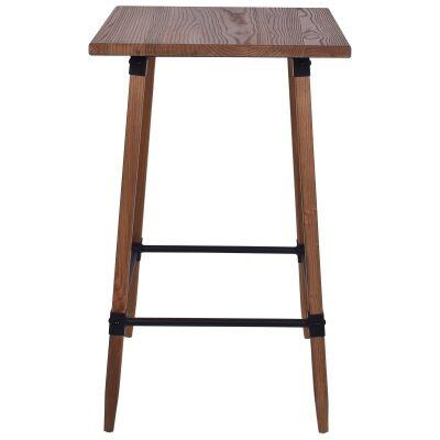 Gordon Elm Timber Bar Table, 60cm, Natural