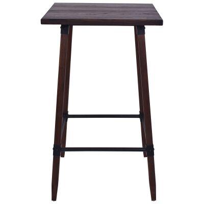Gordon Elm Timber Bar Table, 60cm, Walnut