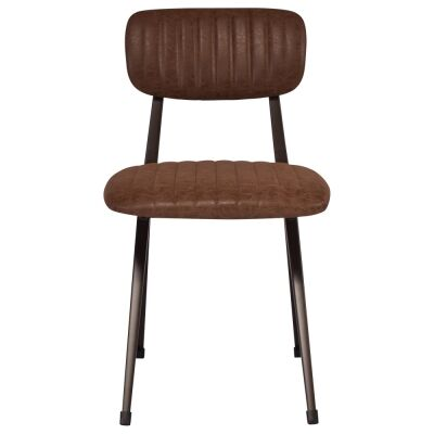Albion PU Leather & Metal Dining Chair