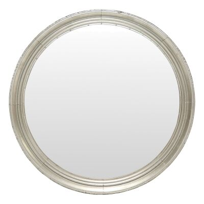 Adelaide Galvanised Iron Frame Round Wall Mirror, 90cm