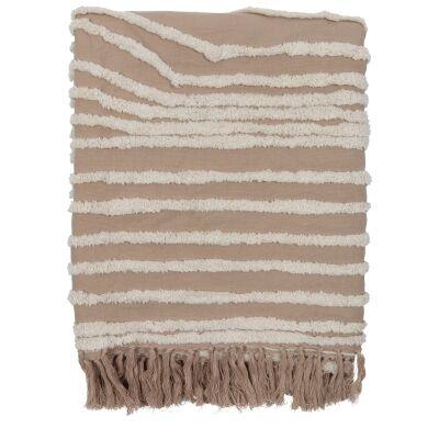 Vargas Linen & Cotton Throw, Pink