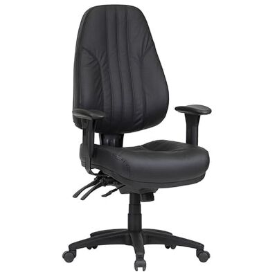 Rover Leather Multi Shift Office Chair, High Back