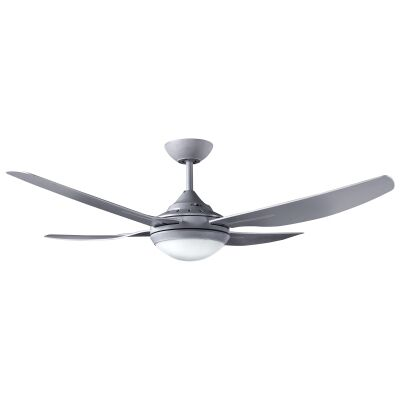 """Ventair Royale II Indoor / Outdoor Ceiling Fan with LED Light, 132cm/52"""", Titanium"""