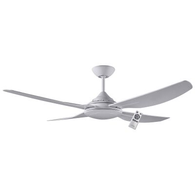 """Ventair Royale II Indoor / Outdoor DC Ceiling Fan with Remote Control, 132cm/52"""", White"""