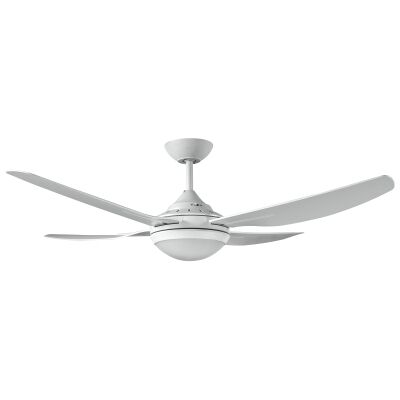 """Ventair Royale II Indoor / Outdoor Ceiling Fan with LED Light, 132cm/52"""", White"""