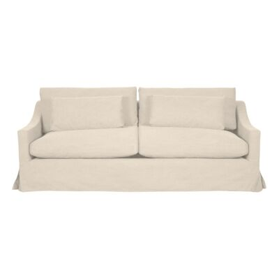 Aveley Fabric Slipcover Sofa, 2.5 Seater, Salt & Pepper
