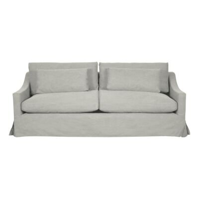 Aveley Fabric Slipcover Sofa, 3.5 Seater, Pastel Grey
