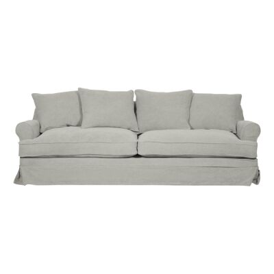 Chafford Fabric Sofa, 3.5 Seater, Pastel Grey