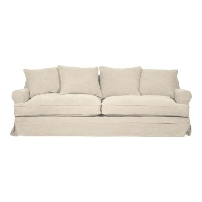 Chafford Fabric Sofa, 3.5 Seater,  Salt & Pepper