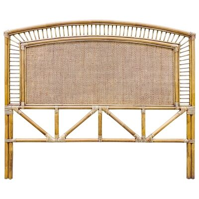Sarah Bamboo Rattan Bed Headboard, Queen, Toffee