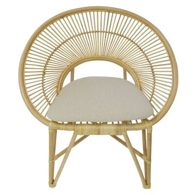 Regis Bamboo Rattan Lounge Chair, Natural