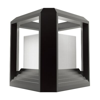 Rubik IP65 Exterior LED Lantern, Black
