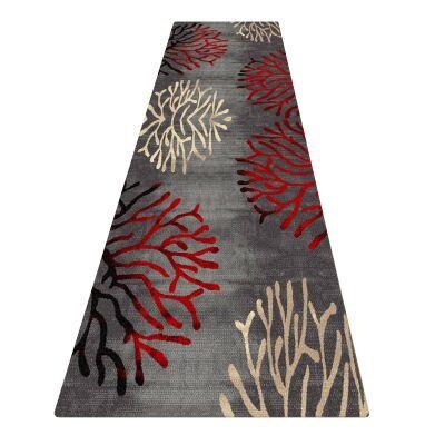 Legacy Coral Modern Runner Rug, 80x300cm, Grey