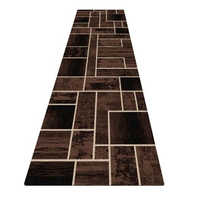 Legacy Clifford Modern Runner Rug, 80x300cm, Brown