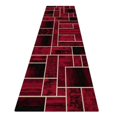 Legacy Clifford Modern Runner Rug, 80x300cm, Red