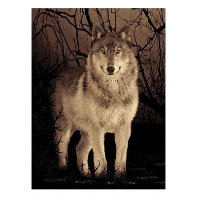 Legacy Wolf Modern Rug/Wall Art, 200x290cm
