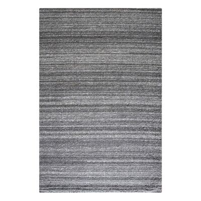 Tenes Wool Modern Rug, 160x230cm, Dark Grey