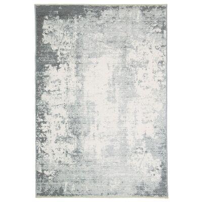 Rusty Vintage Abstract Reversible Rug, 160x230cm, Grey