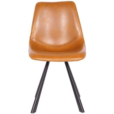 Rimini Commercial Grade Faux Leather Dining Chair, Tan