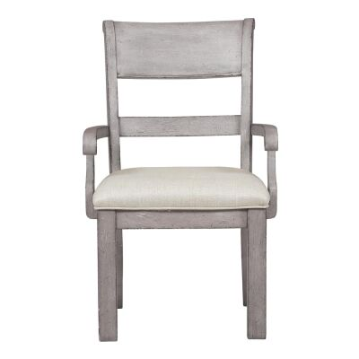 Prospect Hill Oak Timber Dining Armchair with Fabric Seat