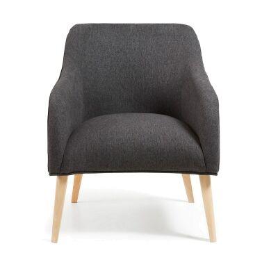 Lura Fabric Lounge Armchair, Graphite