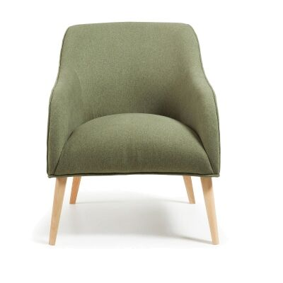 Lura Fabric Lounge Armchair, Green