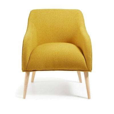 Lura Fabric Lounge Armchair, Mustard
