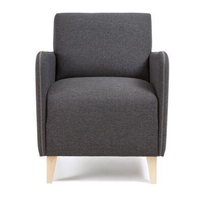 Nicola Fabric Lounge Armchair, Graphite
