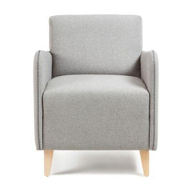 Nicola Fabric Lounge Armchair, Grey