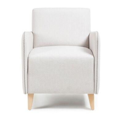 Nicola Fabric Lounge Armchair, Beige