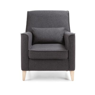 Amicis Fabric Lounge Armchair, Graphite