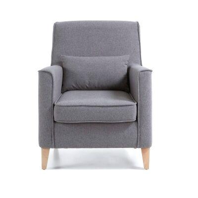 Amicis Fabric Lounge Armchair, Grey