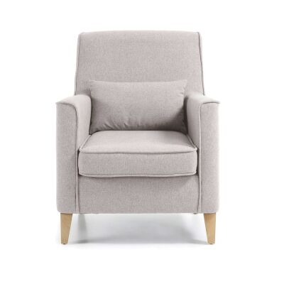 Amicis Fabric Lounge Armchair, Beige
