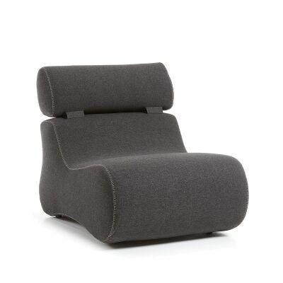 Novella Fabric Lounge Chair, Graphite