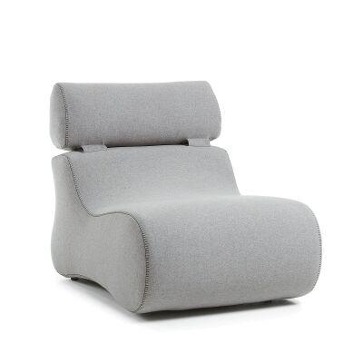 Novella Fabric Lounge Chair, Grey
