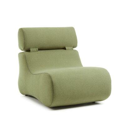 Novella Fabric Lounge Chair, Green