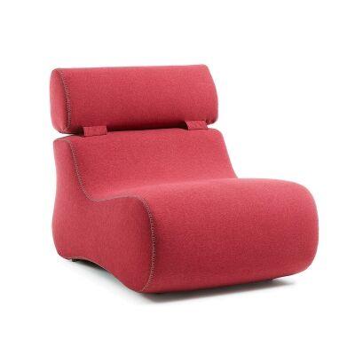 Novella Fabric Lounge Chair, Ruby