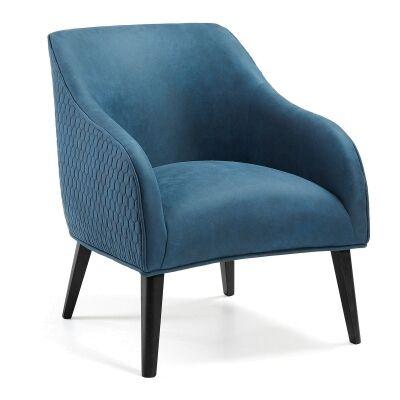 Lura II Fabric Lounge Armchair, Blue