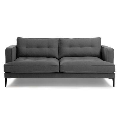Bellavista Tufted Fabric Sofa, 3 Seater, Graphite