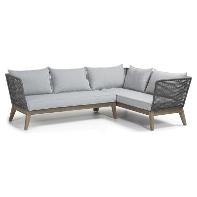 Melissia Rope & Acacia Timber Corner Sofa