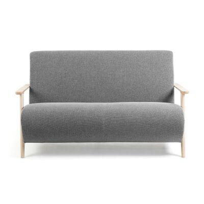 Roberta Varese Fabric Sofa, 2 Seater, Grey / Natural