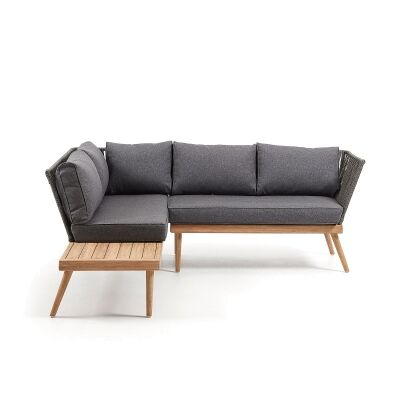 Matlaske Eucalyptus Timber Outdoor Corner Sofa