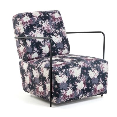 Kone Fabric Lounge Armchair, Retro Peony