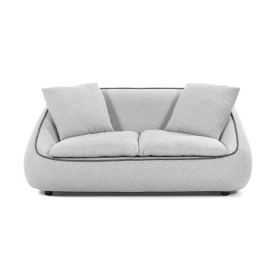 Parnell Fabric Sofa, 2 Seater, Light Grey