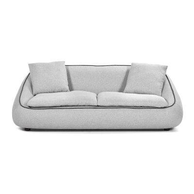 Parnell Fabric Sofa, 3 Seater, Light Grey