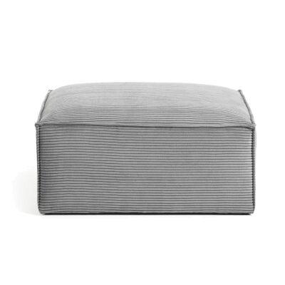 Lorton Corduroy Fabric Ottoman, Grey