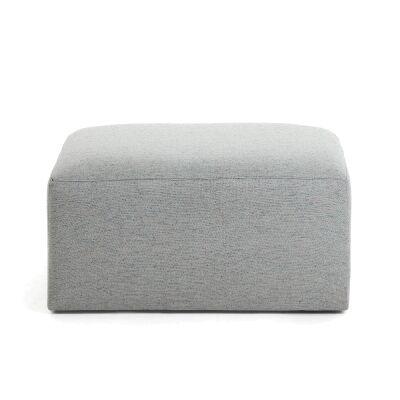 Lorton Fabric Ottoman, Light Grey