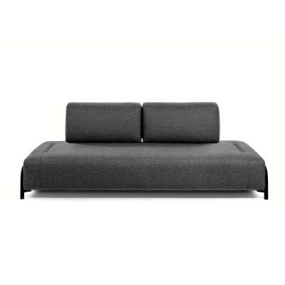 Meomo Fabric Module Sofa, Armless, 3 Seater, Charcoal