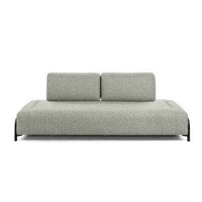 Meomo Fabric Module Sofa, Armless, 3 Seater, Beige