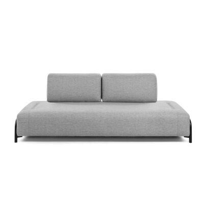 Meomo Fabric Module Sofa, Armless, 3 Seater, Light Grey